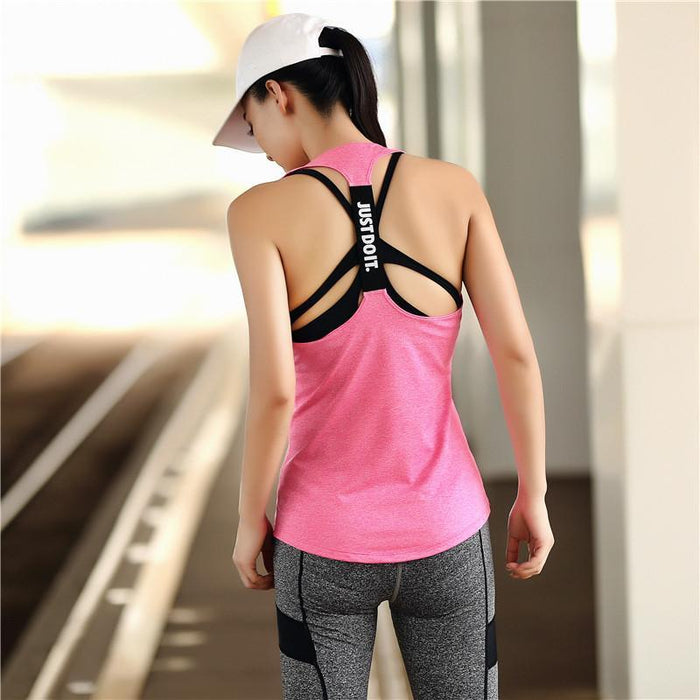62095bf08c1ba Women Yoga Top Gym Sports Vest Sleeveless Shirts Tank Tops Sport Top  Fitness Women Running Clothes