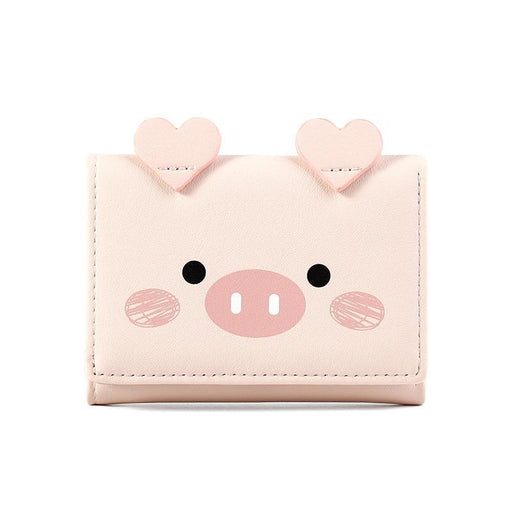 Womens Animal Mini Wallet Pu Leather Short Coin Wallet Card Multi Card Position Large Capacity-Wallets-Oluolin Shop Store-Grey-EpicWorldStore.com