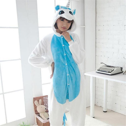 Womens Warm Sleepwear Adult Winter Couple Pajamas Stitch Unicorn Animals Pajamas Pyjama-Sleep & Lounge-1234556 Store-Rainbow Tenma-S-EpicWorldStore.com
