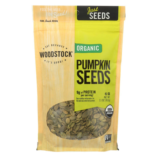 Woodstock Organic Pumpkin Seeds - Case Of 8 - 11 Oz.-Eco-Friendly Home & Grocery-Woodstock-EpicWorldStore.com