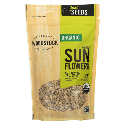Woodstock Organic Sunflower Seeds - Hulled - Case Of 8 - 12 Oz.-Eco-Friendly Home & Grocery-Woodstock-EpicWorldStore.com