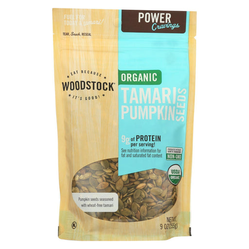 Woodstock Organic Tamari Pumpkin Seeds - Case Of 8 - 9 Oz.-Eco-Friendly Home & Grocery-Woodstock-EpicWorldStore.com