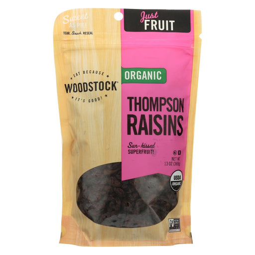 Woodstock Organic Thompson Raisins - Case Of 8 - 13 Oz.-Eco-Friendly Home & Grocery-Woodstock-EpicWorldStore.com