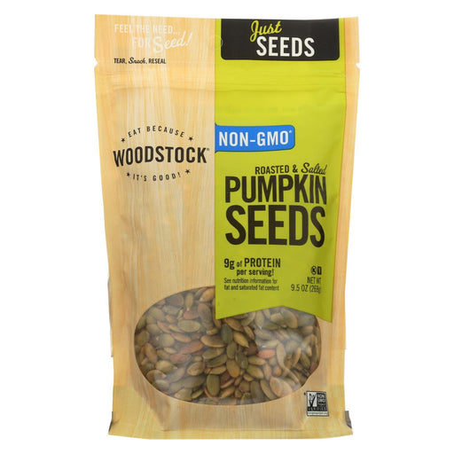 Woodstock Pumpkin Seeds - Roasted - Salted - Case Of 8 - 9.5 Oz.-Eco-Friendly Home & Grocery-Woodstock-EpicWorldStore.com