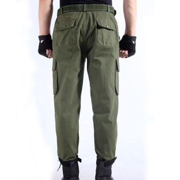 Work Pants Mens Auto Repair Labor Insurance Welding Factory Work Clothes Trousers Cotton Safety-Safety Clothing-i-Esteller Store-Army Green-165-EpicWorldStore.com