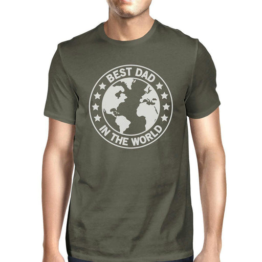 World Best Dad Mens Dark Grey Cotton Tee Shirts Funny Graphic Tee-Apparel & Accessories-365 Printing-2X-LARGE-EpicWorldStore.com