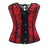 X Size S-2Xl/6Xl Stylish Lace Up Boned Overbust Corset Bustier Top Waist Cincher Outfit Summer Party-Bustiers & Corsets-Beauty Date-Z6180 Red-S-EpicWorldStore.com
