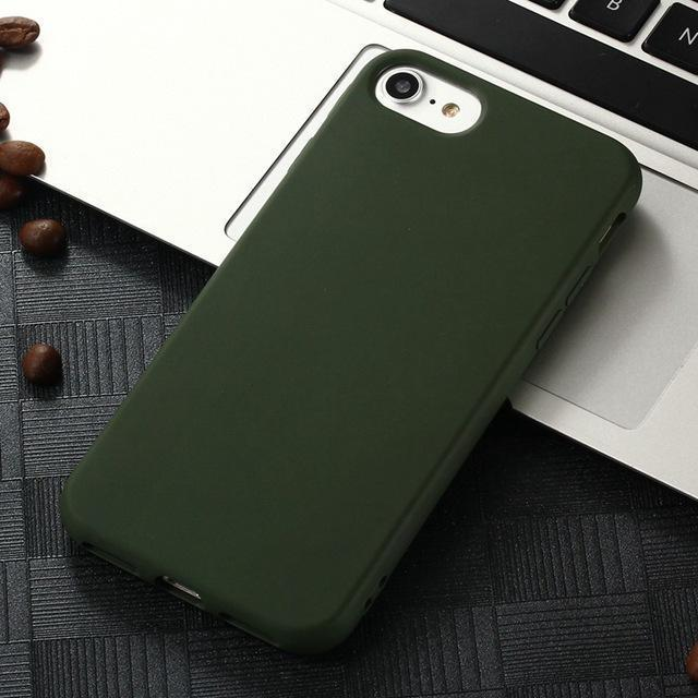 online store 55731 32521 Xbxcase Candy Color Tpu Rubber Silicone Case For Iphone 7 7Plus Matte  Frosted Soft Cover