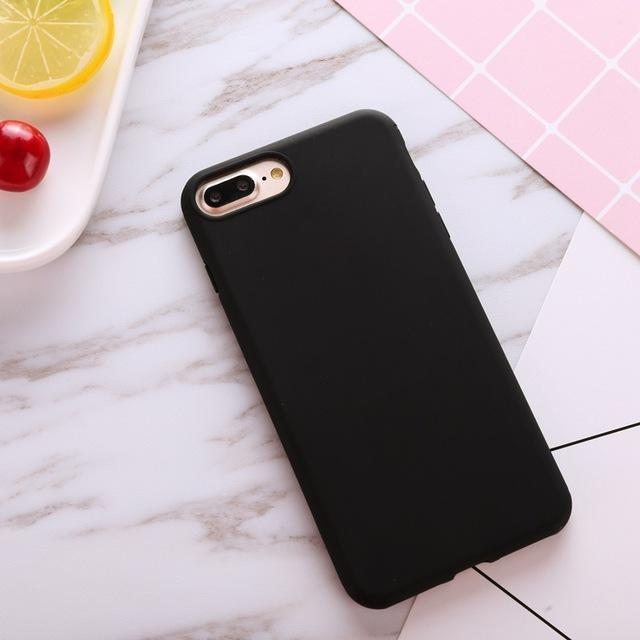 online store 94c46 590cd Xbxcase Candy Color Tpu Rubber Silicone Case For Iphone 7 7Plus Matte  Frosted Soft Cover