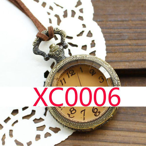 Xc0006 Leather Chain Pocket Watch-Pocket & Fob Watches-YourOwnLife Store-black 50-EpicWorldStore.com