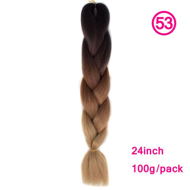 Xccoco Hair Synthetic Hair Extensions Ombre Kanekalon Braiding Hair