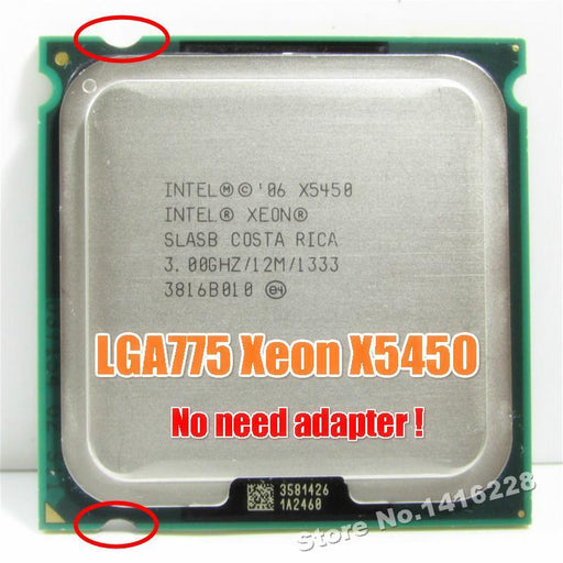 Xeon X5450 Processor 3.0Ghz 12Mb 1333Mhz Slbbe Slasb Close To Core 2 Quad Q9650 Works On Lga775-Computer Components-CPU TOP Store-EpicWorldStore.com