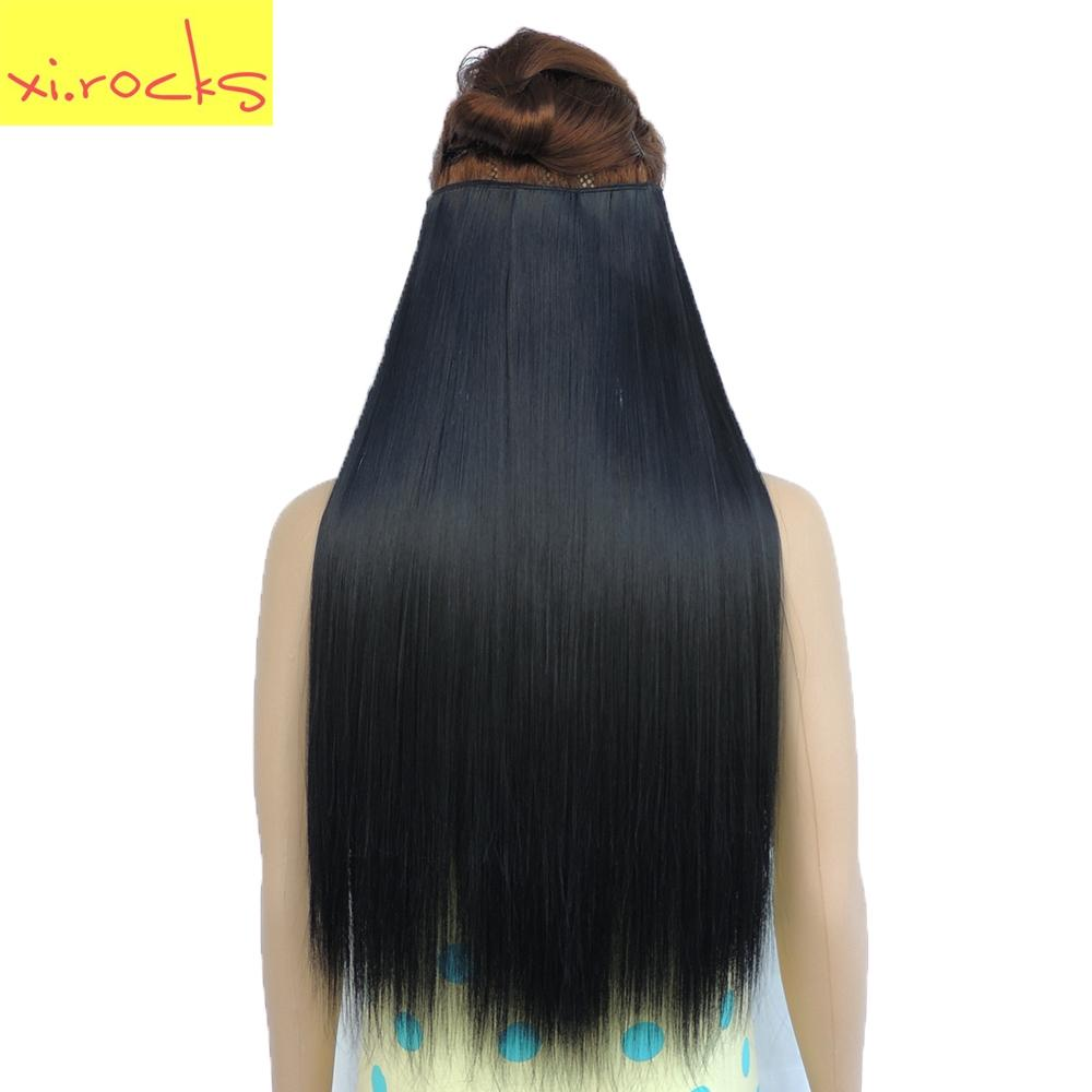 Rocks Straight 5 Clip In Hair Extension Synthetic 25 Colors Women Clips Hair  Pieces e2ab17774f