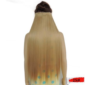 Xi.Rocks Straight 5 Clip In Hair Extensions High Temperature Fiber 25 Colors 28Inch Hairpiece-Shop1526455 Store-Bug-EpicWorldStore.com