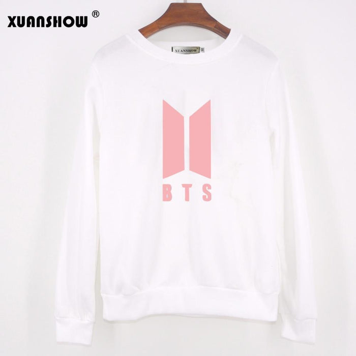 Xuanshow Autumn Winter New Love Yourself Letters Women Sweatshirts Kpop Bangtan Boys Fans-Hoodies & Sweatshirts-XUANCOOL Store-Black-S-EpicWorldStore.com