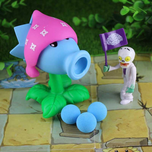 [Yamala] Pvz Plants Vs Zombies Peashooter Pvc Action Figure Model Toy Gifts Toys For Children High-Learning & Education-Yamala knick-knack Store-1-EpicWorldStore.com