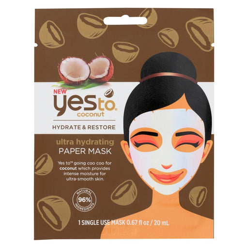 Yes To - Coconut - Ultra Hydrating Paper Mask - Case Of 6 - 0.67 Fl Oz.-Eco-Friendly Home & Grocery-Yes To-EpicWorldStore.com