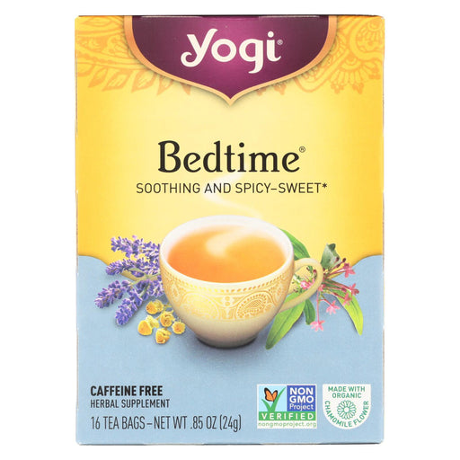 Yogi Bedtime Herbal Tea Caffeine Free Chamomile - 16 Tea Bags - Case Of 6-Eco-Friendly Home & Grocery-Yogi-EpicWorldStore.com