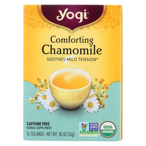 Yogi Organic Comforting Chamomile - 16 Tea Bags - Case Of 6-Eco-Friendly Home & Grocery-Yogi-EpicWorldStore.com
