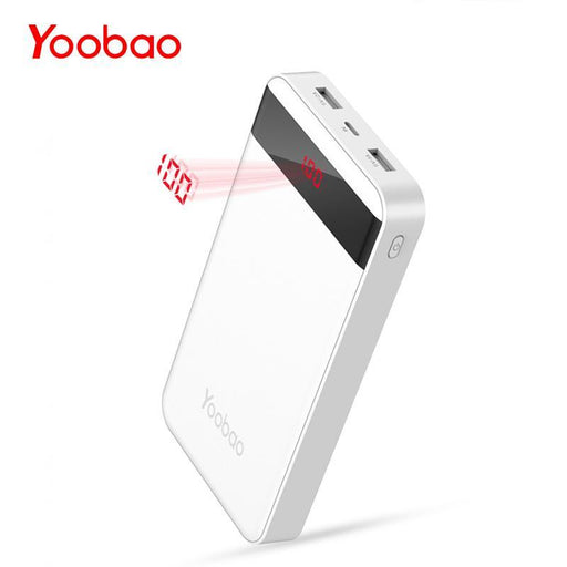 Yoobao M20Pro 20000Mah Portable Charger Dual Usb Output/Input (Lightning&Mircro Input) Mobile-Power Bank-Yoobao Official Store-WE-add Micro Cable-EpicWorldStore.com