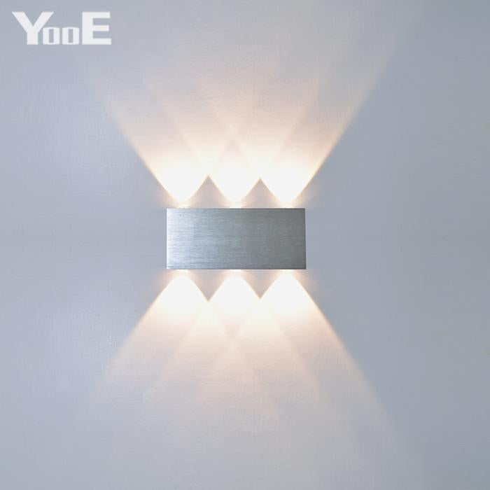 Yooe Indoor 2w 4w 6w 8w Led Wall Lamps Ac100v220v Aluminum Decorate Wall Sconce Bedroom Led Wall
