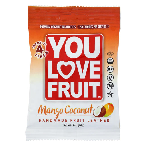 You Love Fruit - Organic Fruit Leather - Mango Coconut - Case Of 12 - 1 Oz.-Eco-Friendly Home & Grocery-You Love Fruit-EpicWorldStore.com