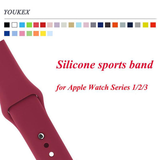 Youkex Silicone Band For Apple Watch 38Mm 42Mm Replacement Sport Bracelet Wrist Strap For Iwatch-Watch Accessories-YOUKEX Official Store-bright pink-38 SM-EpicWorldStore.com