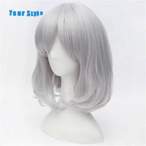 Your Style Short Straight Silver Bob Wig Cosplay For Party Costume Natural Hair Wigs With Bangs-Your Styles Hair Company Store-EpicWorldStore.com