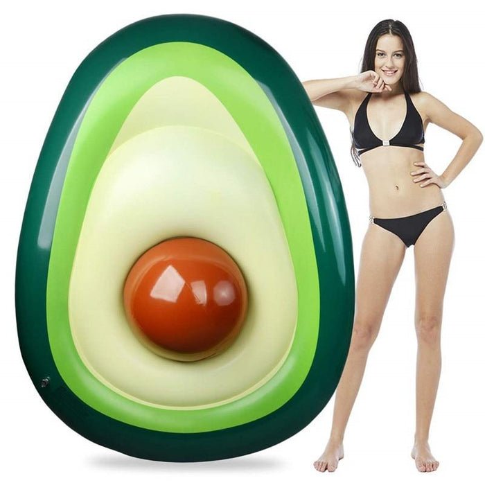 Yuyu 160X125Cm Avocado Swimming Ring Inflatable Swim Giant Pool Float For Adults For Pool Tube-Swimming Rings-YUYU Official Store-EpicWorldStore.com