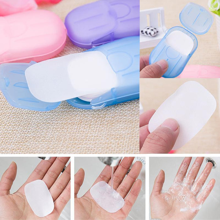 Cleansers Beauty & Health 50pcs Disposable Soap Paper With Storage Box Travel Portable Hand Washing Box Scented Slice Sheets Mini Soap Paper Reasonable Price
