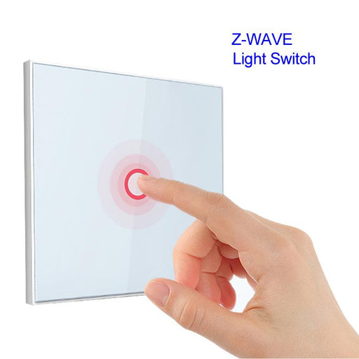 Z Wave 1 Gang Eu Wall Light Switch 1Ch Wireless Home Smart Remote Control Building Automation Z-Wave-Building Automation-REDEAGLE Official Store-EpicWorldStore.com