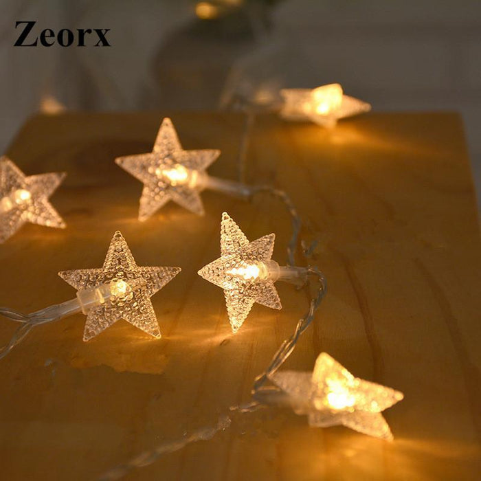 factory price 08814 14450 Zeorx 1/2M Led Star String Lights Led Fairy Lights Christmas Wedding  Decoration Lights Battery