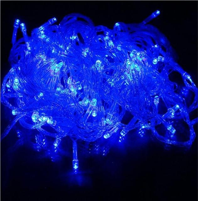 Zinuo 10M 20M 30M 50M 100M Led Fairy String Garland Ac110V 220V Waterproof Christmas Lights-Holiday Lighting-ZINUO Factory Store-Blue-10M 100Leds-EpicWorldStore.com