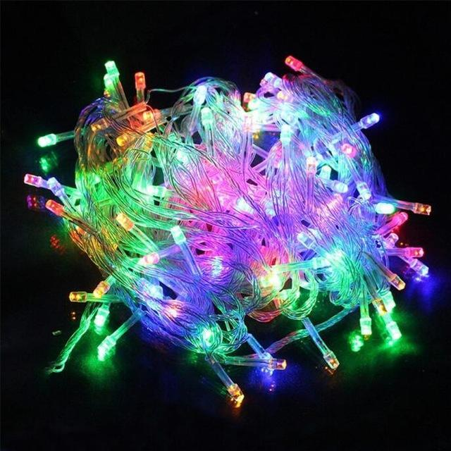 Zinuo 10M 20M 30M 50M 100M Led Fairy String Garland Ac110V 220V Waterproof Christmas Lights-Holiday Lighting-ZINUO Factory Store-Multicolor-10M 100Leds-EpicWorldStore.com