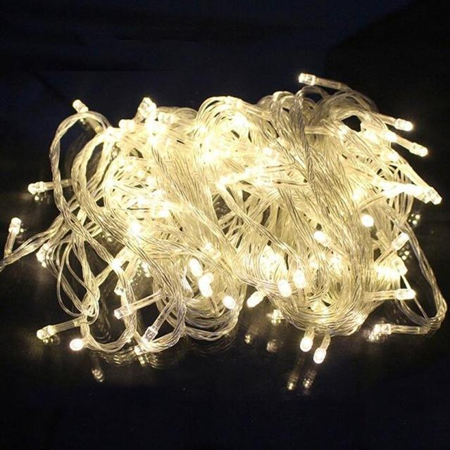 Zinuo 10M 20M 30M 50M 100M Led Fairy String Garland Ac110V 220V Waterproof Christmas Lights-Holiday Lighting-ZINUO Factory Store-Warm White-10M 100Leds-EpicWorldStore.com