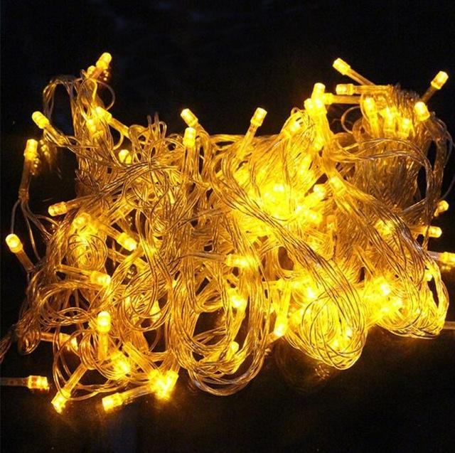 Zinuo 10M 20M 30M 50M 100M Led Fairy String Garland Ac110V 220V Waterproof Christmas Lights-Holiday Lighting-ZINUO Factory Store-Yellow-10M 100Leds-EpicWorldStore.com