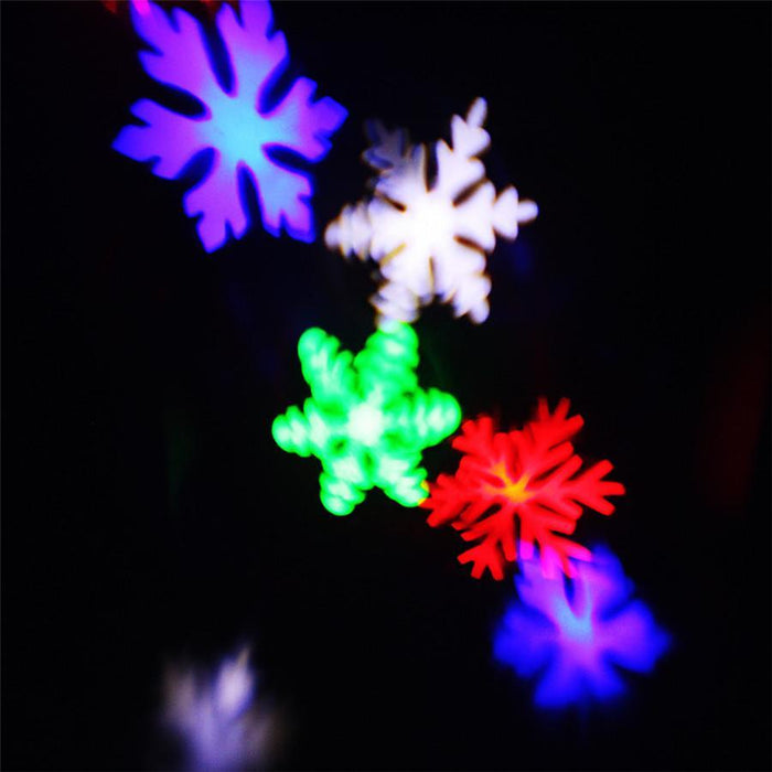 Zinuo Moving Snow Laser Projector Lamp Snowflake Led Stage Light  Christmas/New Year