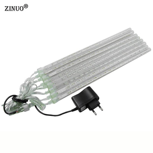 Zinuo Multi-Color 30Cm Meteor Shower Rain Tubes Ac100-240V Led Christmas Lights Wedding Party Garden-Holiday Lighting-ZINUO Factory Store-Blue-EpicWorldStore.com
