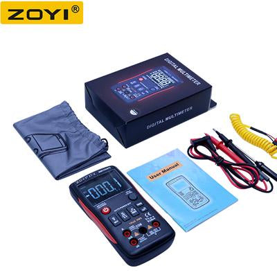 Zoyi True-Rms Digital Multimeter Button 9999 Counts With Analog Bar Graph  Ncv Multi Tester Ac/Dc