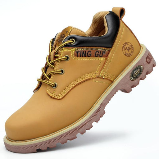 Zyyzym Steel Toe Shoes Men Safety Work Boots Autumn Winter Outdoors Men Work Safety Shoes Anti-Work & Safety Boots-ZYYZYM Footwear Store-H215yellow-4.5-EpicWorldStore.com