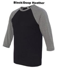 3/4-Sleeve Baseball T-Shirt - ES Embroidery