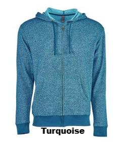 Denim Fleece Full-Zip Hoody - ES Embroidery