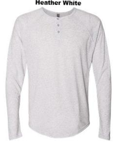 Triblend Long-Sleeve Henley - ES Embroidery