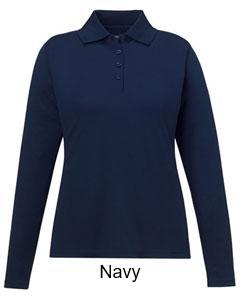 Performance Long-Sleeve Piqué Polo - ES Embroidery