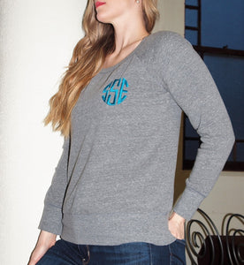 Sponge Fleece Wide Neck Sweatshirt - ES Embroidery