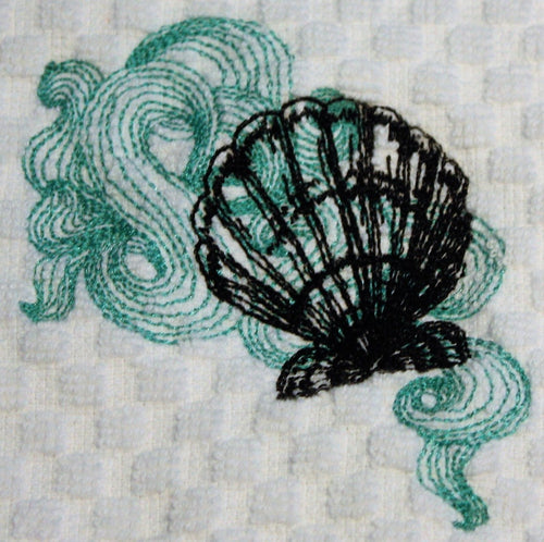 Seashell Kitchen Towel