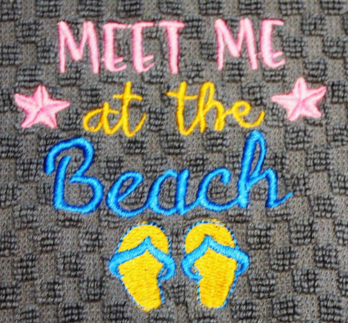 Meet me at the Beach Kitchen Towel