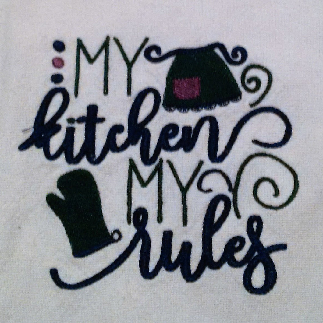 My Kitchen My Rules Kitchen Towel