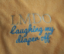 LMDO Laughing my Diaper Off Hooded Bath Towel