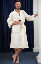 Mid Calf Length Waffle Weave Robe - ES Embroidery